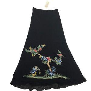 NWT Rene Derhy Collection Skirt Japanese Bonsai S
